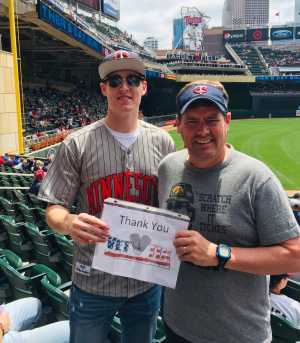 Jeffrey attended Minnesota Twins vs. Kansas City Royals - MLB on Jun 16th 2019 via VetTix