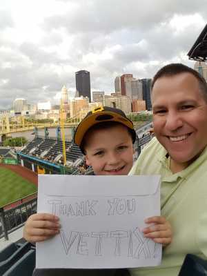 William attended Pittsburgh Pirates vs. Milwaukee Brewers - MLB on May 30th 2019 via VetTix