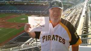 Frank attended Pittsburgh Pirates vs. Milwaukee Brewers - MLB on May 30th 2019 via VetTix