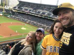 Cory Dunlap attended Pittsburgh Pirates vs. Milwaukee Brewers - MLB on May 30th 2019 via VetTix