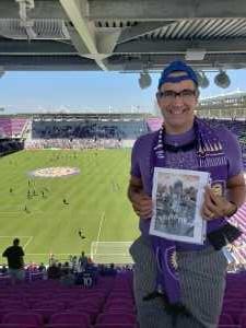 ERNESTO attended Orlando City SC vs. FC Cincinnati - MLS on May 19th 2019 via VetTix