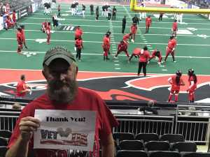 Curtis attended Jacksonville Sharks vs. Orlando Predators - AFL - Military Appreciation Night! on May 18th 2019 via VetTix