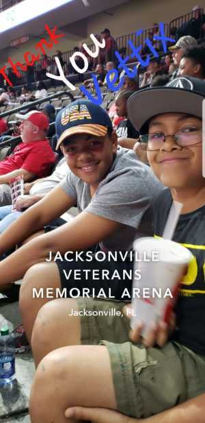 Sheila attended Jacksonville Sharks vs. Orlando Predators - AFL - Military Appreciation Night! on May 18th 2019 via VetTix