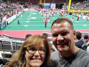 Gary attended Jacksonville Sharks vs. Orlando Predators - AFL - Military Appreciation Night! on May 18th 2019 via VetTix