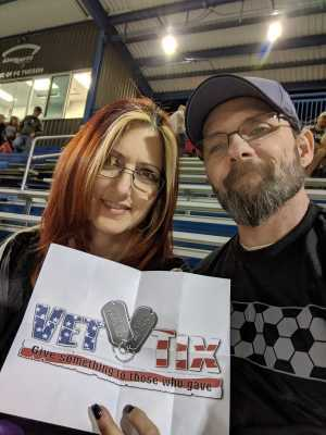 Christopher attended FC Tucson vs. Chattanooga Red Wolves - USL on May 18th 2019 via VetTix