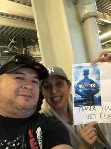 Oscar attended Cc Sabathia & Friends Celebrity Softball Game at Yankee Stadium on May 16th 2019 via VetTix