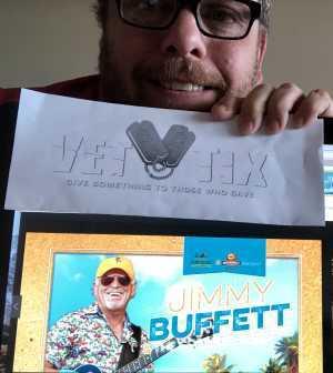 Paul attended Jimmy Buffett - Pop on Jun 6th 2019 via VetTix