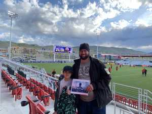 Clayton attended Real Monarchs SLC vs Phoenix Rising FC - Military Appreciation Match - USL on May 25th 2019 via VetTix