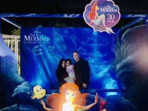 Daniel attended Disney the Little Mermaid an Immersive Live-to-film Concert Experience - Other on May 17th 2019 via VetTix