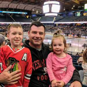 Thomas attended Chicago Wolves vs. San Diego Gulls - AHL - Armed Forces Night - Calder Cup Playoffs - Special Instructions * See Notes on May 18th 2019 via VetTix