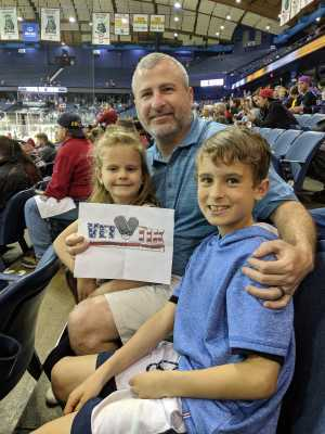 James attended Chicago Wolves vs. San Diego Gulls - AHL - Armed Forces Night - Calder Cup Playoffs - Special Instructions * See Notes on May 18th 2019 via VetTix