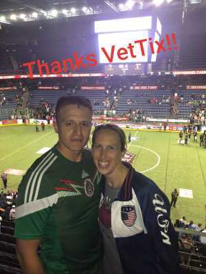 Michele attended USA vs. Mexico Exhibition Match - Arena Soccer International Game on May 31st 2019 via VetTix
