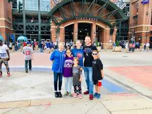 Maggie M. attended Colorado Rockies vs. Chicago Cubs - MLB on Jun 11th 2019 via VetTix