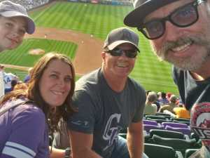 travis attended Colorado Rockies vs. Chicago Cubs - MLB on Jun 11th 2019 via VetTix