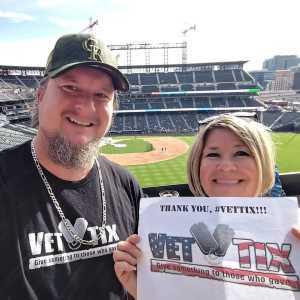 Dave attended Colorado Rockies vs. Chicago Cubs - MLB on Jun 11th 2019 via VetTix