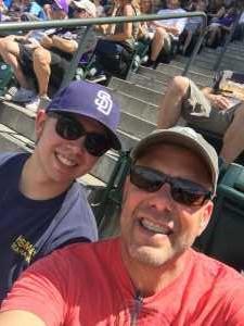 Andrew attended Colorado Rockies vs. San Diego Padres - MLB on Jun 16th 2019 via VetTix