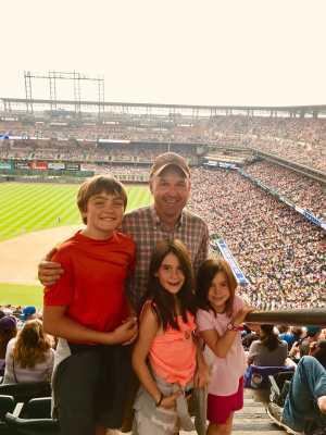 Amy attended Colorado Rockies vs. San Diego Padres - MLB on Jun 16th 2019 via VetTix