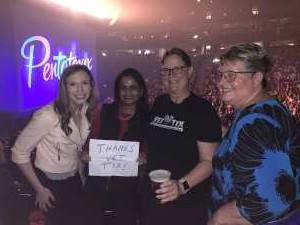 Michele attended Pentatonix - the World Tour With Special Guest Rachel Platten on May 19th 2019 via VetTix