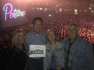 John attended Pentatonix - the World Tour With Special Guest Rachel Platten on May 19th 2019 via VetTix