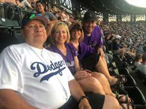Sue attended Colorado Rockies vs. Los Angeles Dodgers - MLB on Jun 27th 2019 via VetTix
