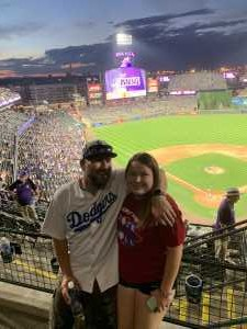 Joe Smith  attended Colorado Rockies vs. Los Angeles Dodgers - MLB on Jun 27th 2019 via VetTix
