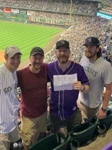 Michael attended Colorado Rockies vs. Los Angeles Dodgers - MLB on Jun 27th 2019 via VetTix