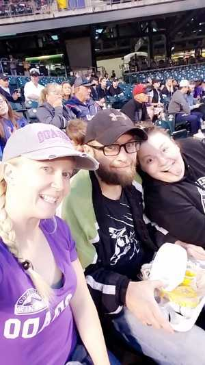 Cristina attended Colorado Rockies vs. Los Angeles Dodgers - MLB on Jun 27th 2019 via VetTix