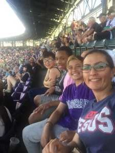 Delia attended Colorado Rockies vs. Los Angeles Dodgers - MLB on Jun 27th 2019 via VetTix