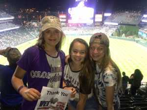 MICHELLE attended Colorado Rockies vs. Los Angeles Dodgers - MLB on Jun 27th 2019 via VetTix