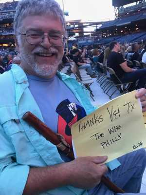 Mark attended The Who: Moving on - Pop on May 25th 2019 via VetTix