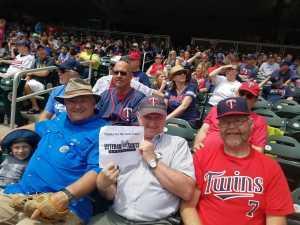 Bill W. attended Minnesota Twins vs. Tampa Bay Rays - MLB on Jun 27th 2019 via VetTix