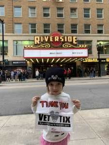 Jeremy attended Judas Priest on May 22nd 2019 via VetTix