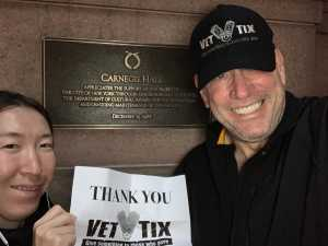 Robert attended A Symphonic Centennial Celebration featuring Berlioz, Dvorak, Copland, Sousa and a World Premiere by Stephenson on May 29th 2019 via VetTix