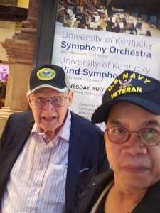 virgil attended A Symphonic Centennial Celebration featuring Berlioz, Dvorak, Copland, Sousa and a World Premiere by Stephenson on May 29th 2019 via VetTix