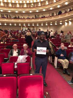 Anthony attended A Symphonic Centennial Celebration featuring Berlioz, Dvorak, Copland, Sousa and a World Premiere by Stephenson on May 29th 2019 via VetTix