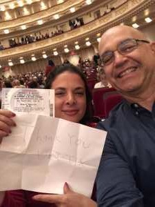 Michael attended A Symphonic Centennial Celebration featuring Berlioz, Dvorak, Copland, Sousa and a World Premiere by Stephenson on May 29th 2019 via VetTix
