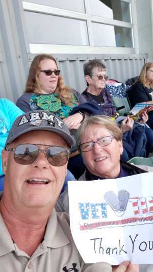 MSG P attended Erie Seawolves vs. Hartford Yard Goats - MiLB - Military Appreciation Night on Jun 14th 2019 via VetTix