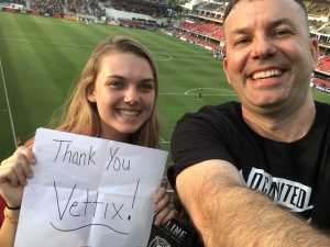 Nathan attended DC United vs. Chicago Fire - MLS on May 29th 2019 via VetTix