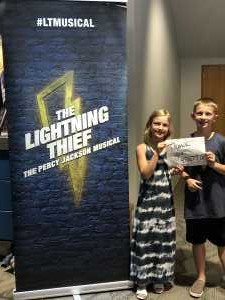 Garrett attended THE LIGHTNING THIEF, The Percy Jackson Musical - 1 ticket per group of 4 on May 31st 2019 via VetTix