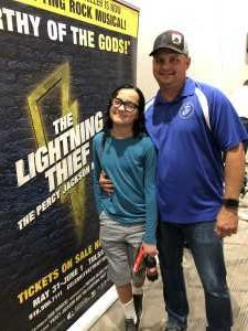 John/Leticia attended THE LIGHTNING THIEF, The Percy Jackson Musical - 1 ticket per group of 4 on May 31st 2019 via VetTix
