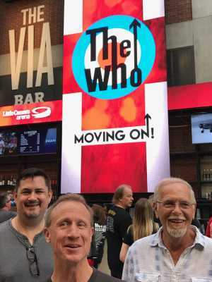 Dawson attended The Who: Moving on - Pop on May 28th 2019 via VetTix