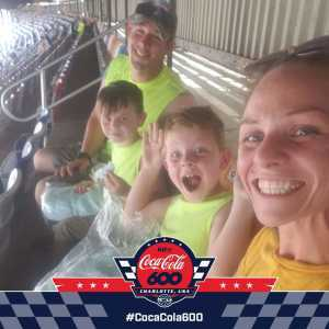 Jared attended Coca Cola 600 - Monster Energy NASCAR Cup Series on May 26th 2019 via VetTix