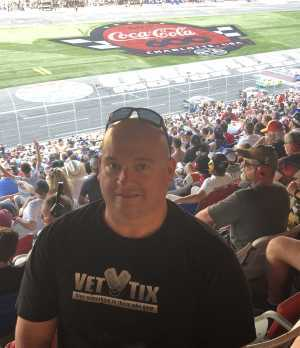 Steve attended Coca Cola 600 - Monster Energy NASCAR Cup Series on May 26th 2019 via VetTix