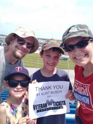 Click To Read More Feedback from 2019 CLS MENCS Camping World 400 - KB100 - Kurt Busch Fan Appreciation Tickets