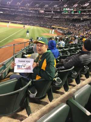 James attended Oakland Athletics vs. Baltimore Orioles - MLB on Jun 18th 2019 via VetTix