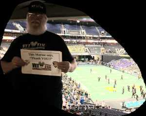 Dennis attended Arizona Rattlers vs. Tucson Sugar Skulls - IFL - Suite Seating on Jun 8th 2019 via VetTix