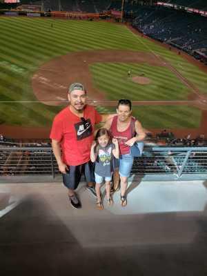 Arthur attended Arizona Diamondbacks vs. Los Angeles Dodgers - MLB on Jun 5th 2019 via VetTix
