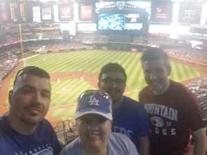 Raymond attended Arizona Diamondbacks vs. Los Angeles Dodgers - MLB on Jun 5th 2019 via VetTix
