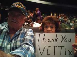 Bob attended Trace Adkins & Clint Black- Theatre Grand Prairie on Jun 16th 2019 via VetTix