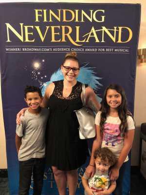 Erica attended Finding Neverland on Jun 18th 2019 via VetTix